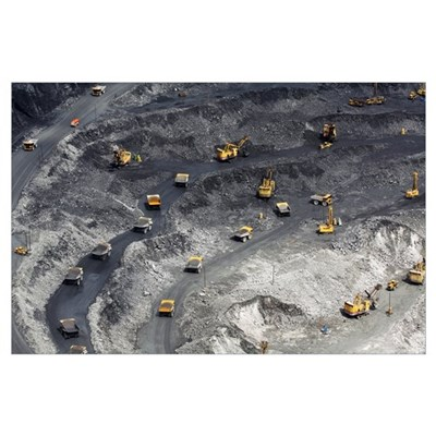 Gold ore open cast mining Poster