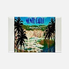 monte carlow monaco illustration Rectangle Magnet