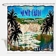 monte carlow monaco illustration Shower Curtain