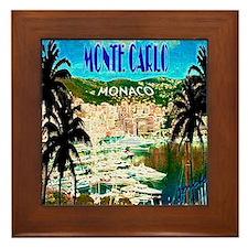 monte carlow monaco illustration Framed Tile