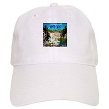 monte carlow monaco illustration Baseball Cap