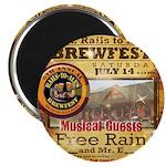 2012 Rails to Ales Brewfest Magnet