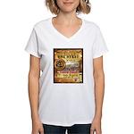 2012 Rails to Ales Brewfest Women's V-Neck T-Shirt
