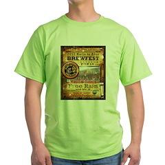 2012 Rails to Ales Brewfest Green T-Shirt