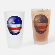 Cape Verde Soccer Ball Drinking Glass