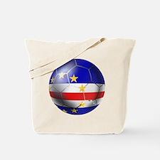 Cape Verde Soccer Ball Tote Bag