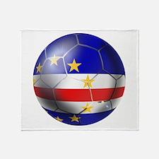 Cape Verde Soccer Ball Throw Blanket