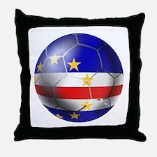 Cape Verde Soccer Ball Throw Pillow