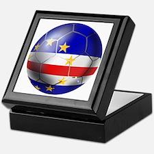 Cape Verde Soccer Ball Keepsake Box