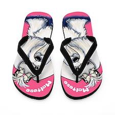 Maltese Supermodel Flip Flops