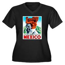 Mexico Travel Poster 4 Women's Plus Size V-Neck Da