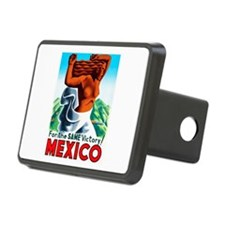 Mexico Travel Poster 4 Hitch Cover