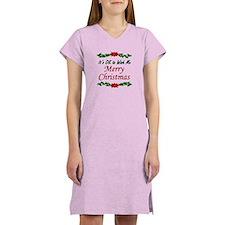 """""""Merry Christmas!"""" Women's Nightshirt"""
