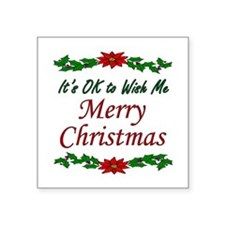 """Merry Christmas!"" Square Sticker 3"" x 3"""