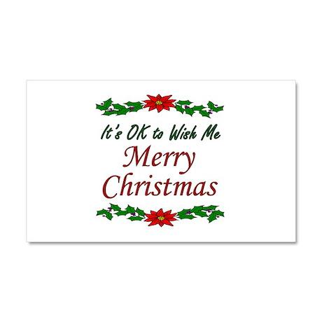 """Merry Christmas!"" Car Magnet 20 x 12"