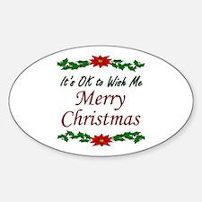 """Merry Christmas!"" Sticker (Oval)"