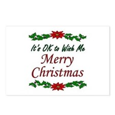 """Merry Christmas!"" Postcards (Package of 8)"