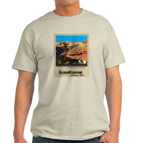 Grand Canyon Travel Poster 2 Light T-Shirt