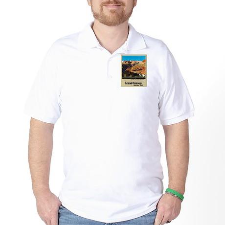 Grand Canyon Travel Poster 2 Golf Shirt