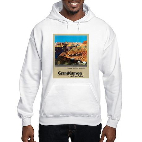 Grand Canyon Travel Poster 2 Hooded Sweatshirt