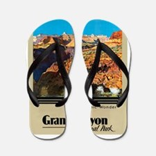 Grand Canyon Travel Poster 2 Flip Flops