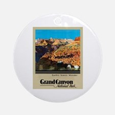 Grand Canyon Travel Poster 2 Ornament (Round)