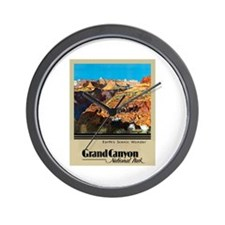 Grand Canyon Travel Poster 2 Wall Clock