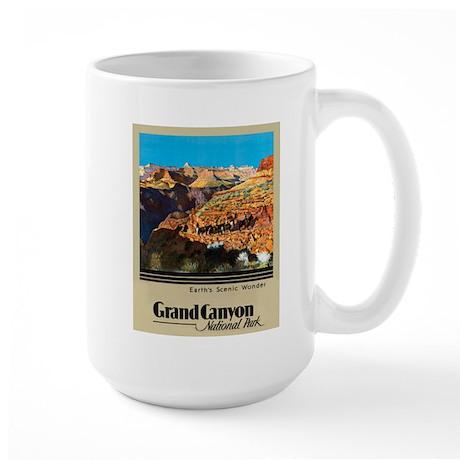 Grand Canyon Travel Poster 2 Large Mug
