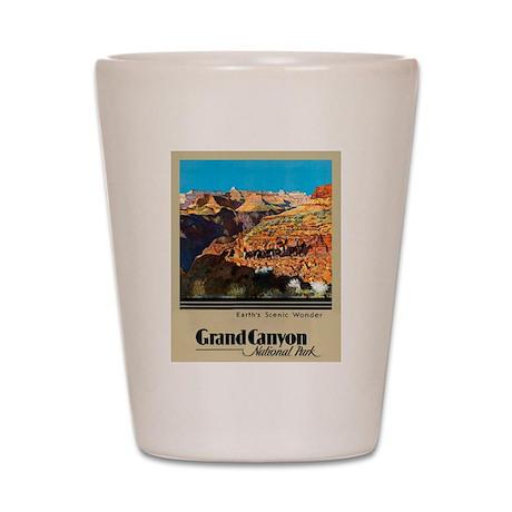 Grand Canyon Travel Poster 2 Shot Glass