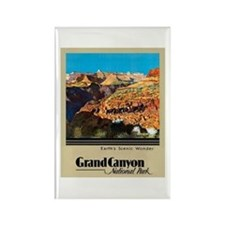 Grand Canyon Travel Poster 2 Rectangle Magnet
