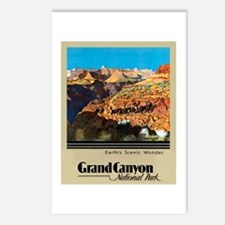 Grand Canyon Travel Poster 2 Postcards (Package of
