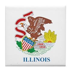 Illinois Flag Tile Coaster