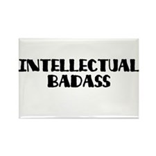 Intellectual Badass Rectangle Magnet