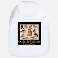 Owls & Falcons Bib