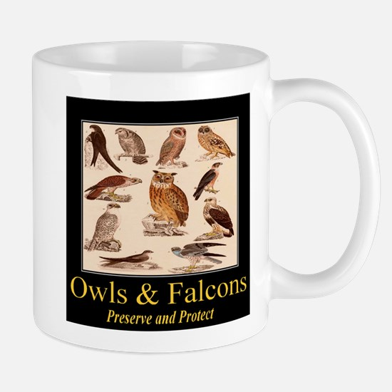 Owls & Falcons Mug