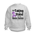 Stand Pancreatic Cancer Kids Sweatshirt