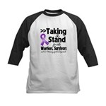 Stand Pancreatic Cancer Kids Baseball Jersey