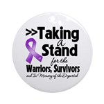 Stand Pancreatic Cancer Ornament (Round)