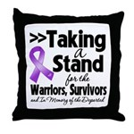 Stand Pancreatic Cancer Throw Pillow