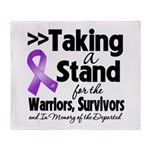 Stand Pancreatic Cancer Throw Blanket