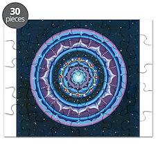 Blue and Purple Lotus Mandala Puzzle