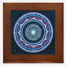 Unique Blue mandala Framed Tile