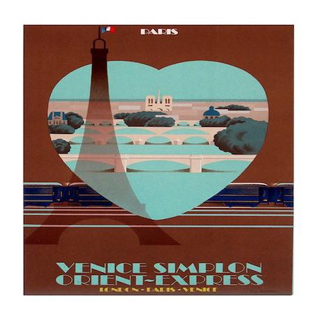Paris Travel Poster Tile Coaster
