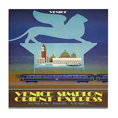 Travel Poster, Venice Tile Coaster
