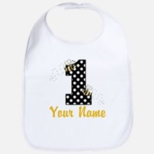 1st Birthday Bumble Bee Bib