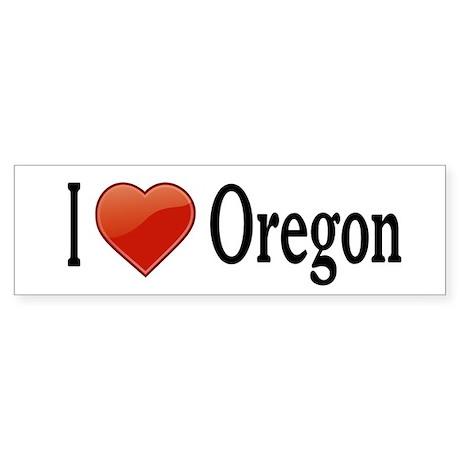 I Love Oregon Sticker (Bumper)