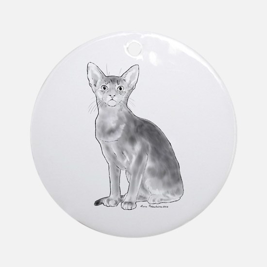 Black and White Aby Ornament (Round)