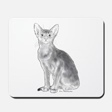 Black and White Aby Mousepad