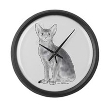 Black and White Aby Large Wall Clock