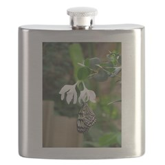 White Butterfly Flask